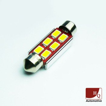 Car LED Bulb 6x SMD-5630 C3W C5W C10W Can-Bus WHITE