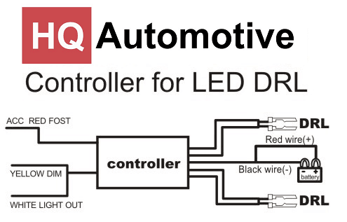 Awesome Drl Day Lights Relay Switch Controller Wiring Harness Multifunction Wiring Database Gramgelartorg