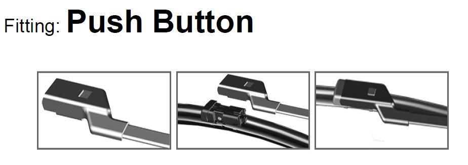ADM42-422 Twin Box Set of Front Frameless Flat Aero Wiper Blades HQ Automotive