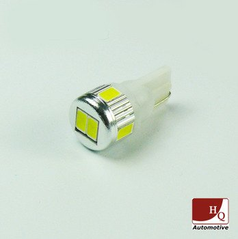 Car LED Light Bulb W5W 6x SMD-5630 WHITE 24V