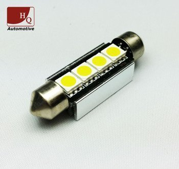 LED Car Light Bulb C10W 4x  SMD-5050 Festoon 42mm CanBus RED