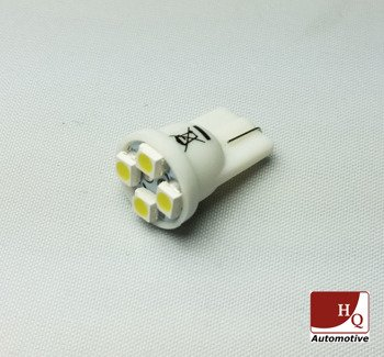 W5W (T10) 4 LED Bulb SMD1210 RED